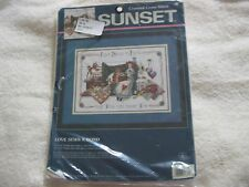 "Sunset Cross Stitch Kit ""Love Sews A Bond"" RARE"