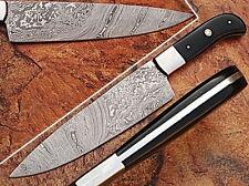 """EST Custom Handmade Damascus 12.5""""  Chef Kitchen Horn Knife NEW 002"""