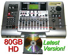 BOSS BR-1200CD Digital Multitrack Recorder, 80GB, Latest Version, CDRW & DRUMS