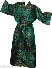 New Emerald Green Toile Robe Woman Housecoat Bathrobe Pool Cover Up Stunning