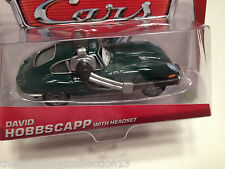 Disney Pixar Cars World Grand Prix David Hobbscapp with Headset Diecast Car 1:55
