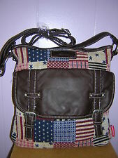 40%OFF-NEW UnionBay Multicolor Old Glory Patterned  Messenger/Crossbody  bag