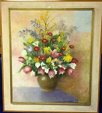 Pintura Al Óleo Grande Firmado John Harcourt impresionante de una galería francés C1960'S