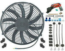 "14"" INCH ELECTRIC COOLING FAN 12 VOLT PUSH-IN RADIATOR FIN PROBE THERMOSTAT KIT"
