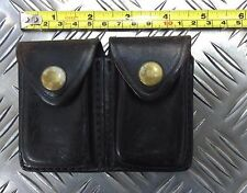 Genuine Police Issue Black Leather HTM Double Pouch Gould & Goodrich UKNH17