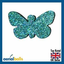 Green Glitter Butterfly Car Aerial Antenna Ball Topper