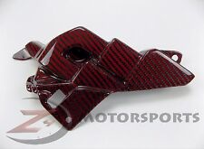 2015 2016 R1 R1M Left Mid Engine Cover Bracket Panel Cowl 100% Carbon Fiber Red