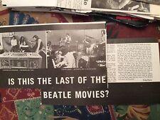 m12n ephemera 1970 film article the last beatles movie