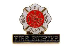 Wholesale Lot Of 12 Fire Fighter Department Maltese Cross Lapel Hat Pin PPM232