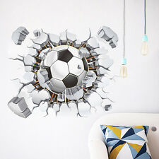 Soccer Ball Football Wall Sticker Decal Kids Room Decor Sport Boy Bedroom poster
