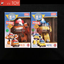 Robocar Poli MARK BUCKY Transformers Transforming Figures Truck Buggy Car 2PCS