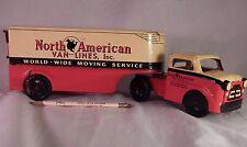 Vintage Tin Advertisement Truck Trailer North American Van Lines Nice