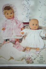Dolls and Premature Babies Clothes Knitting Pattern