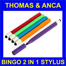 5x 2in1 Pantalla Táctil Stylus Pen Marcador De Fieltro Escudete Bingo Bingo Electrónico entradas