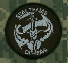 ORIGINAL SEAL SPECIAL WARFARE IRON-ON PATCH: SEAL TEAM 5 in IRAQ from 2002-03