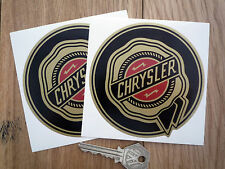 CHRYSLER 100mm Gold Rosette Auto Sticker 300C Viper Crossfire Cruiser Dodge