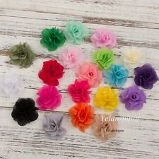 Soft Chic Chiffon Craft Flowers Flowers For Baby Hair Accessories Headband 30pcs