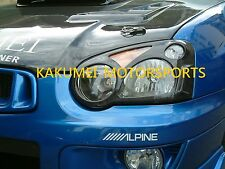 Carbon Fiber Head Light Covers For 2004 2005 04 05 Subaru STi WRX BLOB-EYED