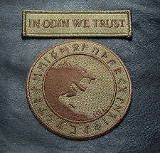 IN ODIN WE TRUST VIKING GOD WOLF IN GOD VIKING VALHALLA mad max IRON ON PATCH