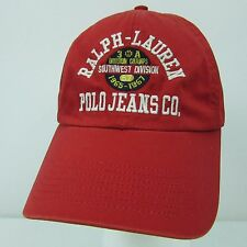 Ralph Lauren Polo Jeans Co 67 Spell Out Logo Red Hat Cap Southwest Division 3A
