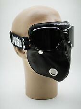 NEW BARUFFALDI FACE MASK with SUPER COMPETITION GOGGLES Motorcycle Cafe Racer