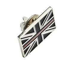 FIRE SERVICE THIN RED LINE UNION JACK PIN BADGE