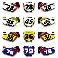 Custom Backgrounds Number Plate Decals For HONDA CR85 2003 2004 2005 2006 2007