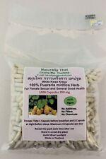 Organico Pueraria Mirifica 350mg x 1000 Capsule-Bio-WHITE Kwao Krua