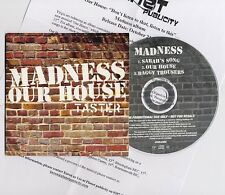 MADNESS - OUR HOUSE TASTER - PROMOTIONAL CD SINGLE IN CARD PICTURE SLEEVE - SKA