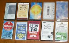 Lot of 10 Audiobooks on Cassettes  Non-Fiction - Aging, Trauma, Headaches, etc..