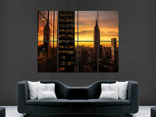 NEW YORK CITY EMPIRE STATE BUILDING   ART IMAGE HUGE  LARGE PICTURE POSTER GIANT