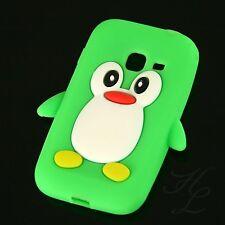 Samsung Galaxy Ace duos s6802 Silicona Funda móvil, funda protectora, estuche, pingüino verde