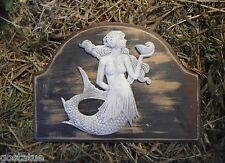 Gostatue  MOLD mermaid plastic mold plaque mold rapid set cement all mould