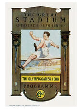LONDON ENGLAND 1908 Summer Olympic Games Official Olympic Museum POSTER Print