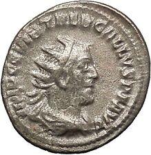 TREBONIANUS GALLUS 251AD Rare Silver Ancient Roman Coin JUNO i53169