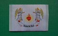 1 écusson insigne tissu patch religieux Sacré Cœur de Jésus avec les Anges