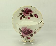 Regency Pink Roses Bone China Tea Cup & Saucer ENGLAND