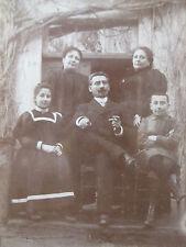 Photographie ancienne 1890 1900 Famille élégante mode costume