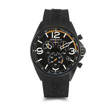 New Torgoen Swiss T18 Men's Chronograph Race Car Design Sport Watch Blk PU Strap