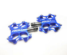 AEST Titanium Spindle MTB BMX Road Bike Flat Platform Pedals Ti Axle A7 UK Stock