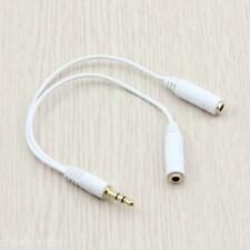 3.5 mm Stereo Audio Plug Y Spliter Adapter Cable Male 1 to 2 Female For ipod PDA