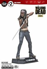"WALKING DEAD TV SERIES COLOUR TOPS RED MICHONNE 7"" ACTION FIGURE McFARLANE"