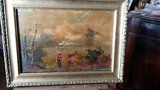 pittura napoletana del  900 olio su compensato m 20x30