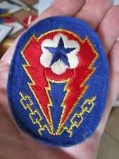 Original WWII ETO FELT Sleeve Patch ~ Scrapbook / Uniform Removed!!!