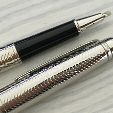 Luxury Rollerball Pen With Serial Number Famous Brand MB Silver Pen