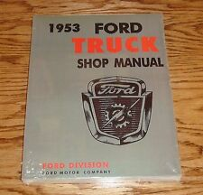 1953 Ford Truck Shop / Service Manual Pickup 53 F100 F250