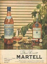 Publicité  Advertising   --  cognac MARTELL