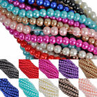 Wholesale Glass Pearl Spacer Loose Beads Charms Jewelry Findings Candy 4/6//8 mm