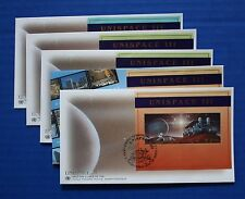 United Nations - 1999 UNISPACE III Souvenir Sheet FDC set