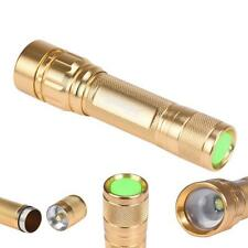 Zoomable 3000 Lumen 3 Modes CREE XML T6 LED Focus 18650 Gold Lamp Flashlight